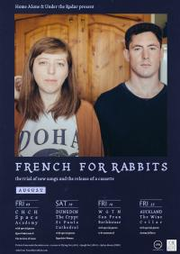 French for Rabbits announce August Tour of Aotearoa