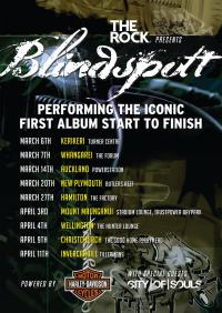 Kiwi rockers Blindspott proudly announce - Blindspott, The Tour!